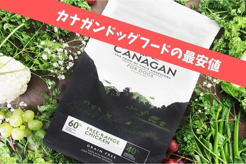【初回半額】カナガンドッグフードの最安値|1袋1200円以上お得な裏技