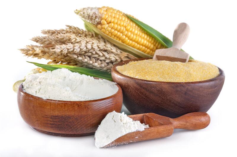 トウモロコシと小麦